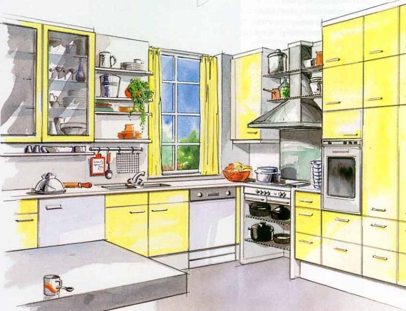 Дизайн проект для кухни