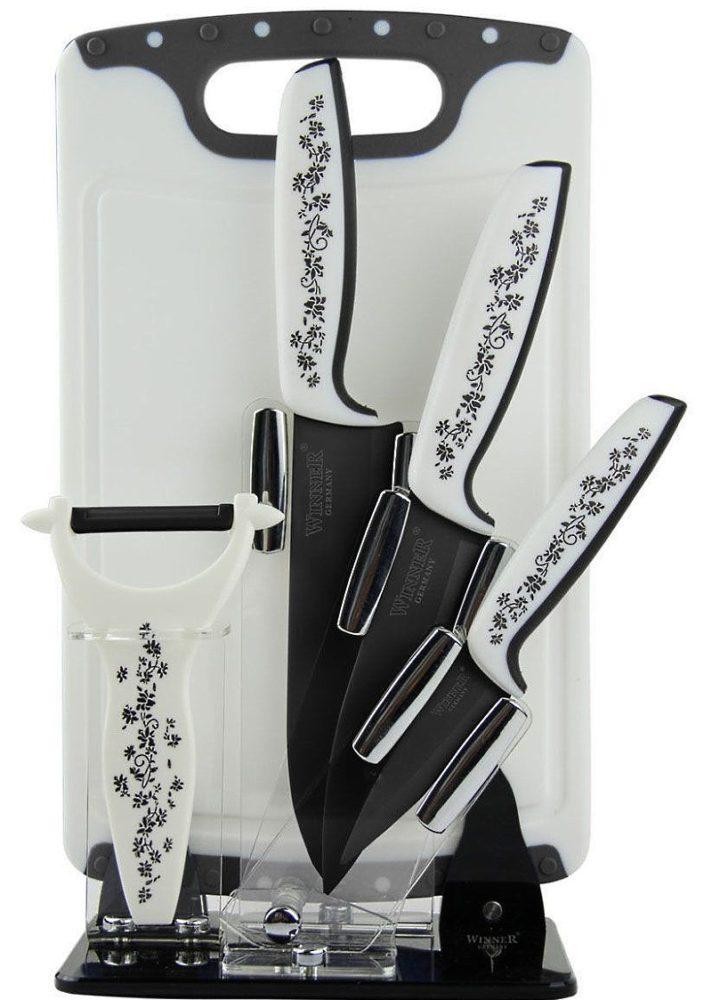 Стильный набор керамических ножей