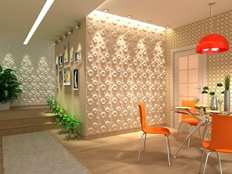 3D панели на стенах кухни