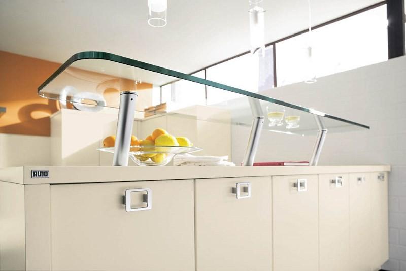 Барная стойка для дома со стеклянной столешницей