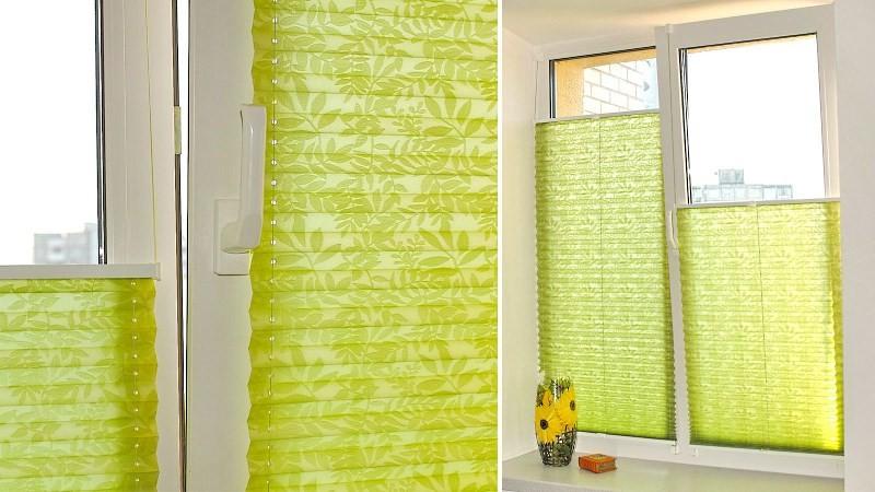 Бумажные шторы плиссе