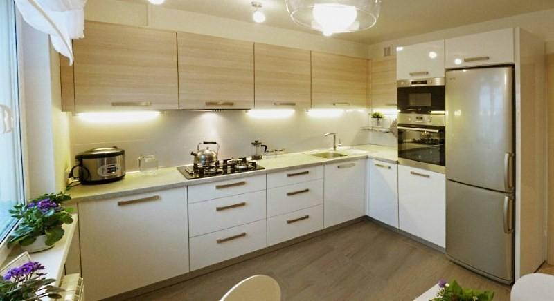 дизайн 9 метровой квадратной кухни