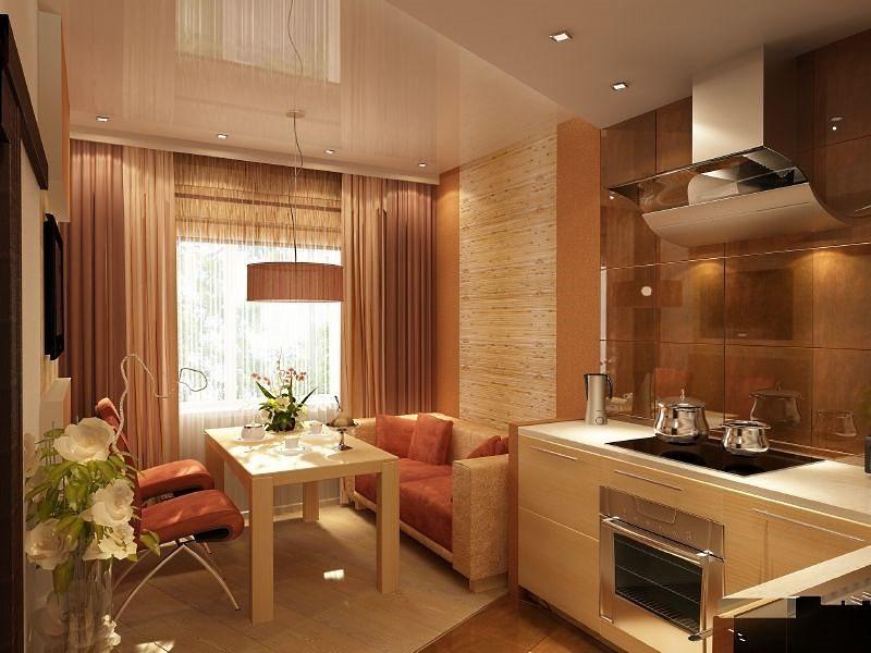 Кухня 10 кв м с диваном