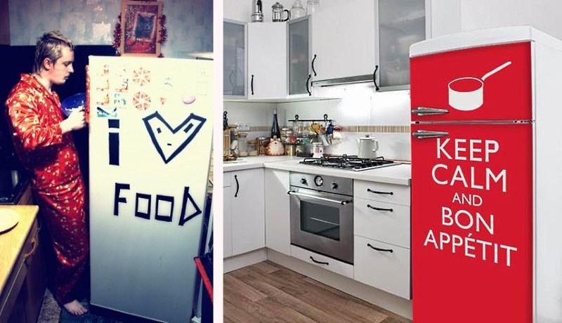 веселенький холодильник