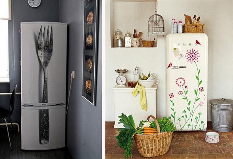 декоративные наклейки на холодильнике