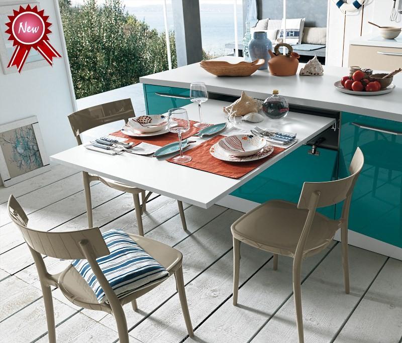 Выдвижной столик на маленькой кухне