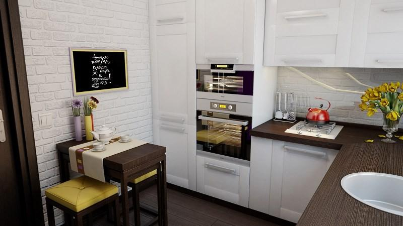 уютная маленькая кухня