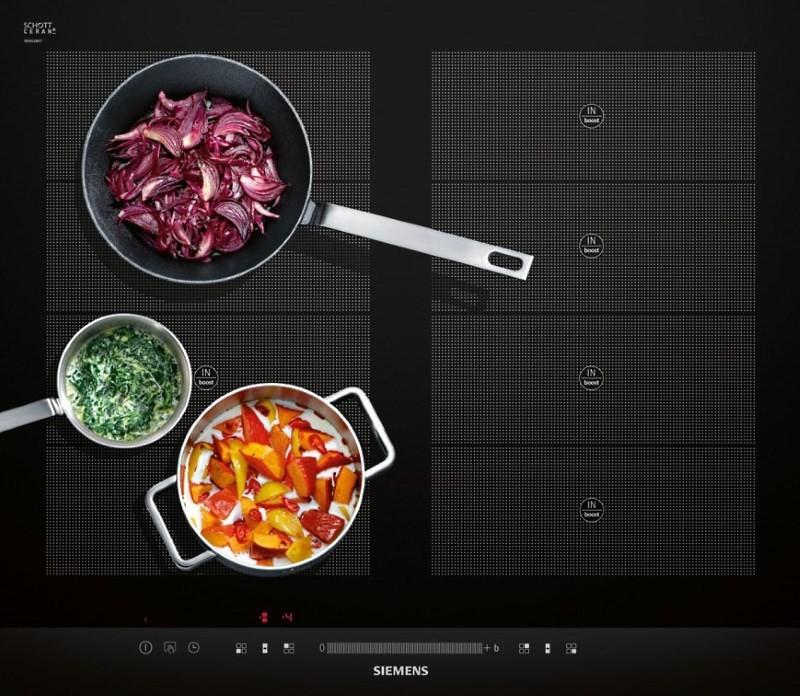 приготовление еды на индукционной панели