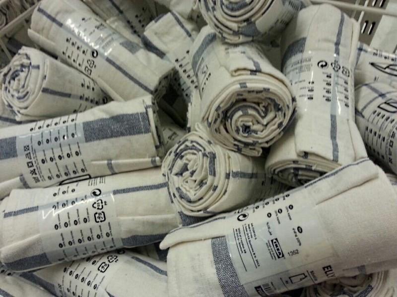 рулоны полотенец в магазине икеа