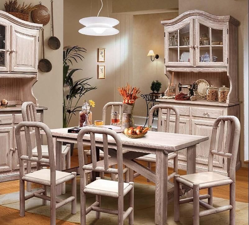 Белый стол из сосны