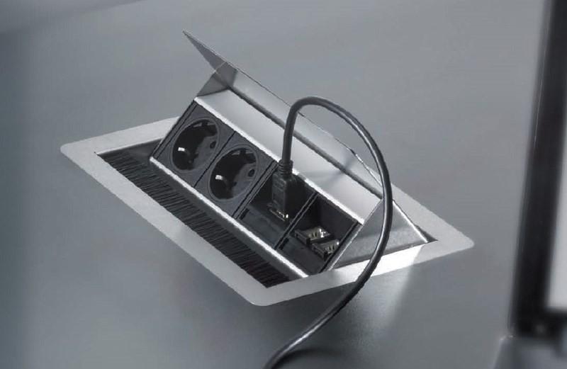 Скрытые розетки для кухни