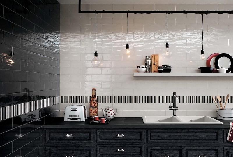 Итальянская плитка на кухне