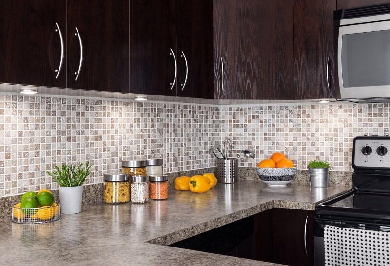 Кафель мозаика на кухне