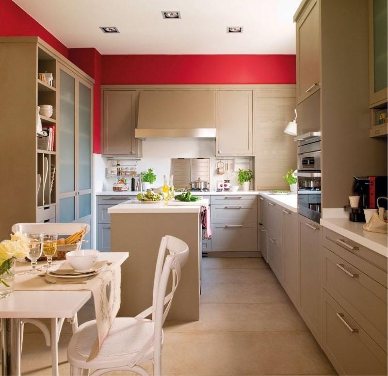 двухрядная планировка кухни 17 м