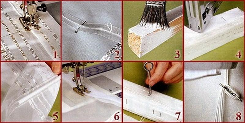 изготовление карниза для штор на липучке