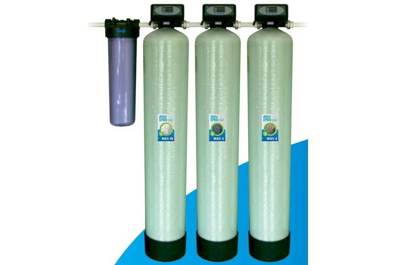Многоступенчатый магистральный фильтр для воды