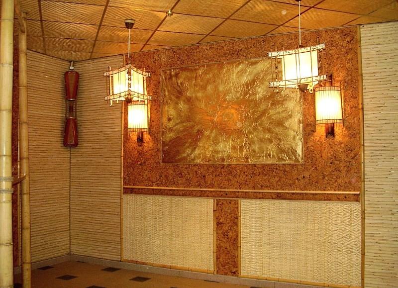 Плетеные бамбуковые обои