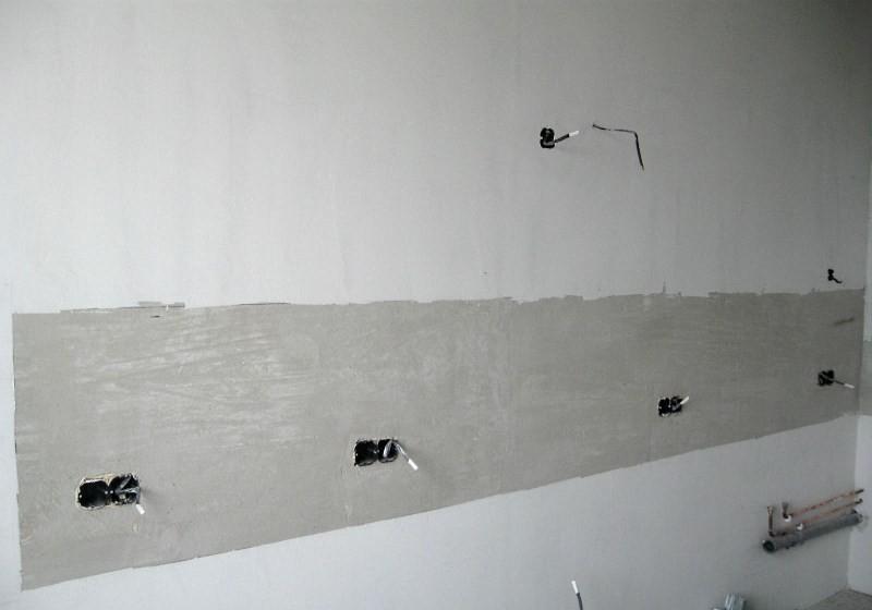 Подготовка стен кухни под панели