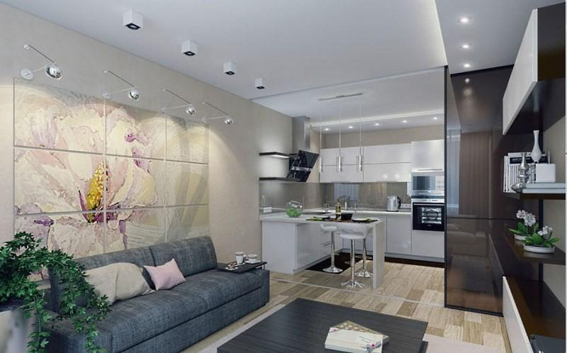 Кухня 18 м с гостиной
