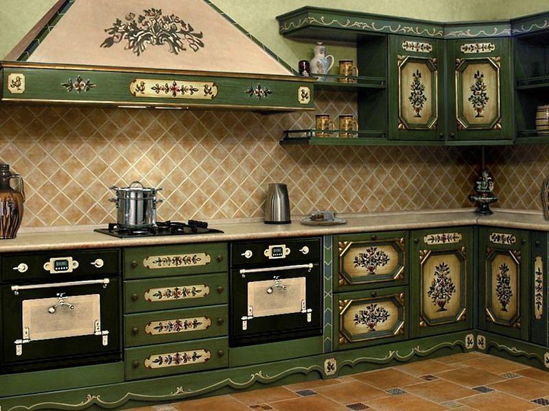 Декупаж в интерьере кухни