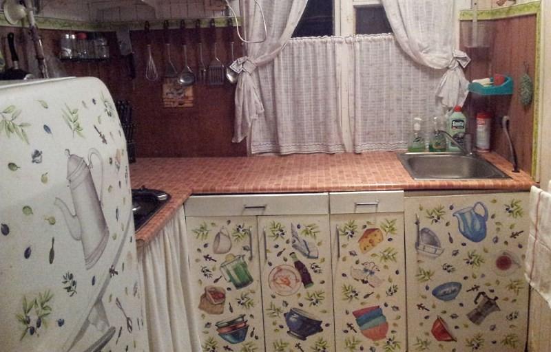 декупаж мебели и холодильника