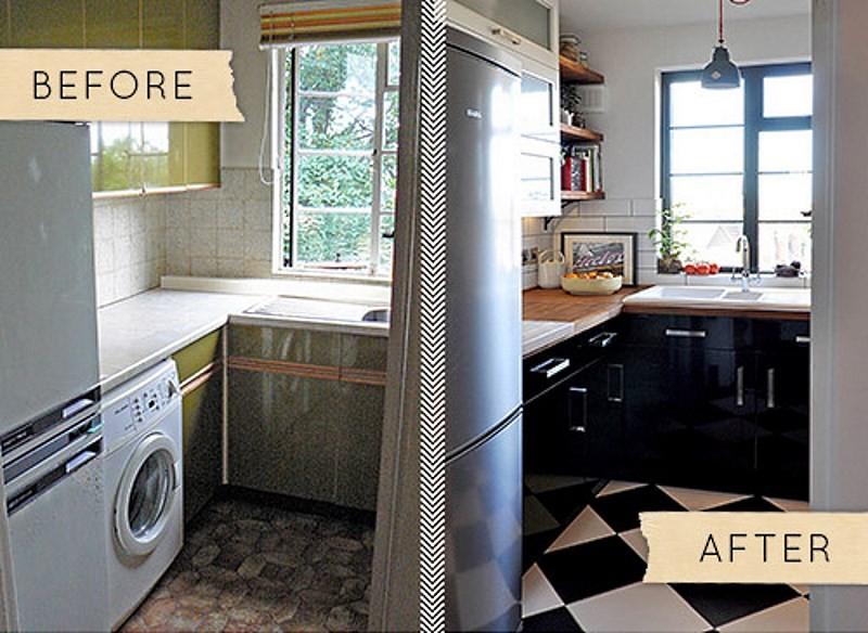 маленькая кухня до и после ремонта