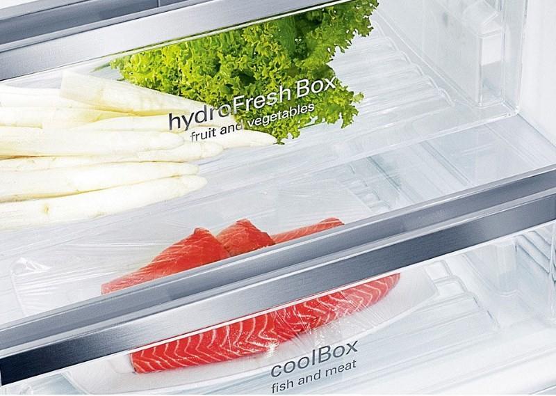 Фреш зона в красном холодильнике