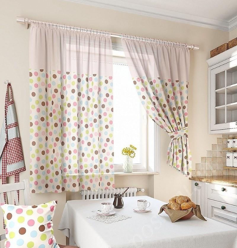 прозрачные шторы на кухне