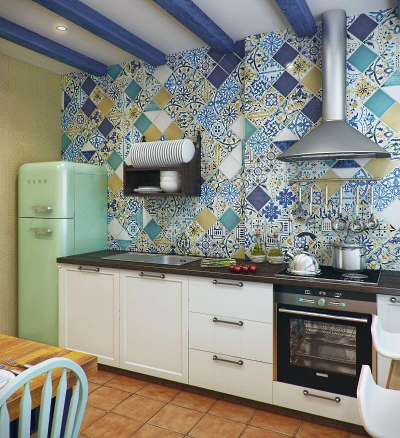 отделка стен на средиземноморской кухне