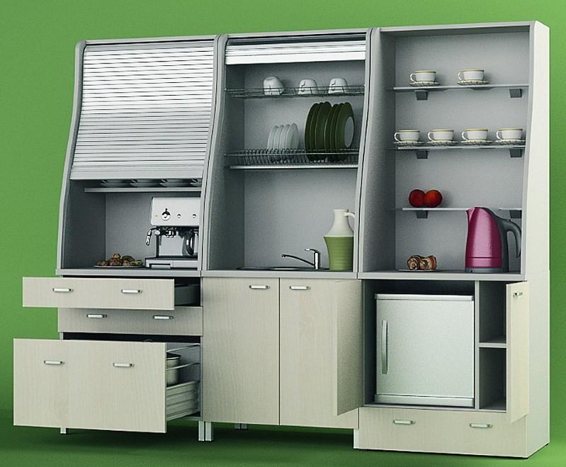 пример дизайна мини кухни