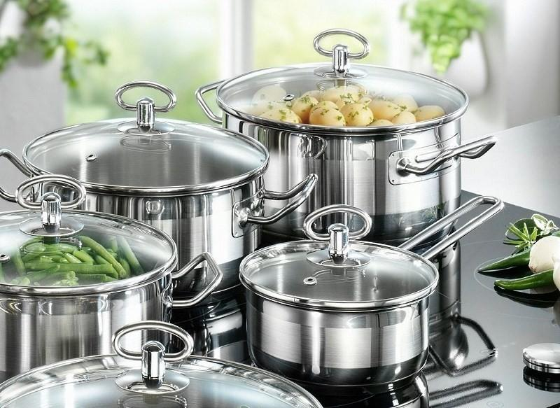 Кухонний посуд з нержавіючої сталі: як мити і доглядати?