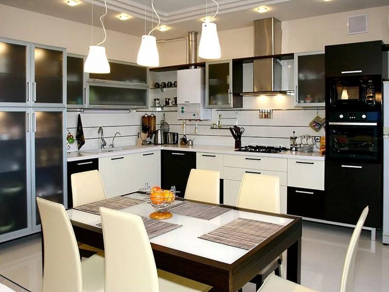 Свет на кухне: какие выбрать лампы, какие зоны освещать, фото.