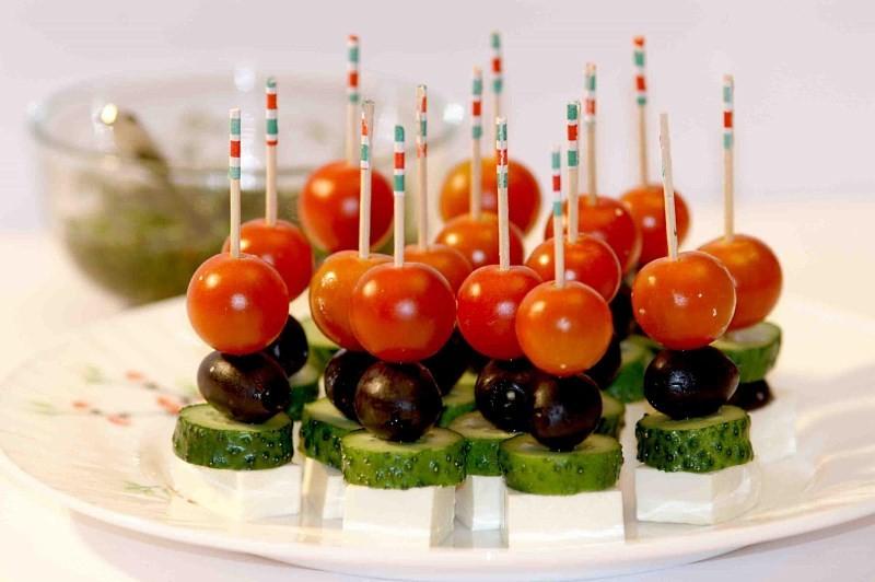 Овощи для детского стола на день рождения