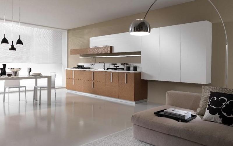 Планировка кухни в стиле минимализм