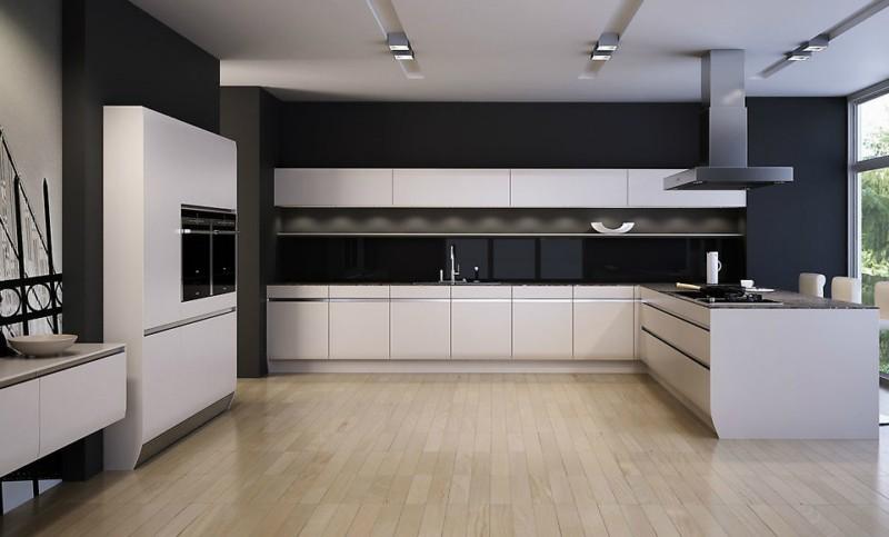 Пример пола на кухне при минимализме