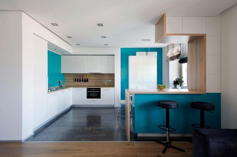 Строгие формы в дизайне кухни