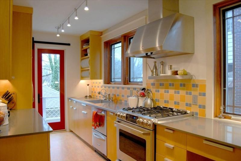 Сочетание цвета в дизайне интерьера кухни