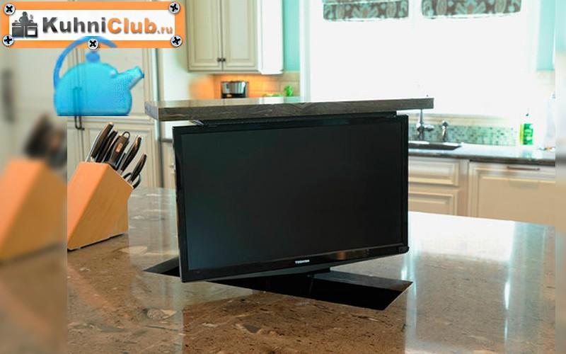 Как-спрятать-телевизор-на-кухне