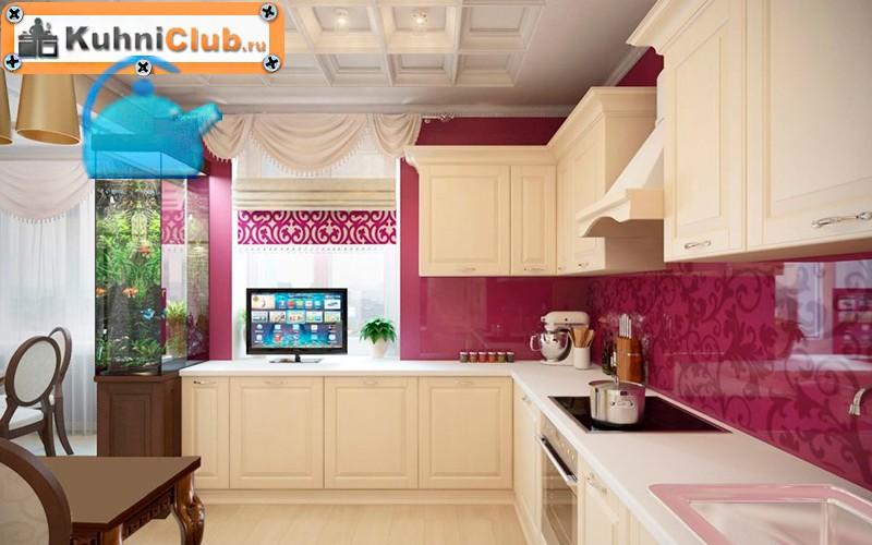 Телевизор-на-кухонном-столе