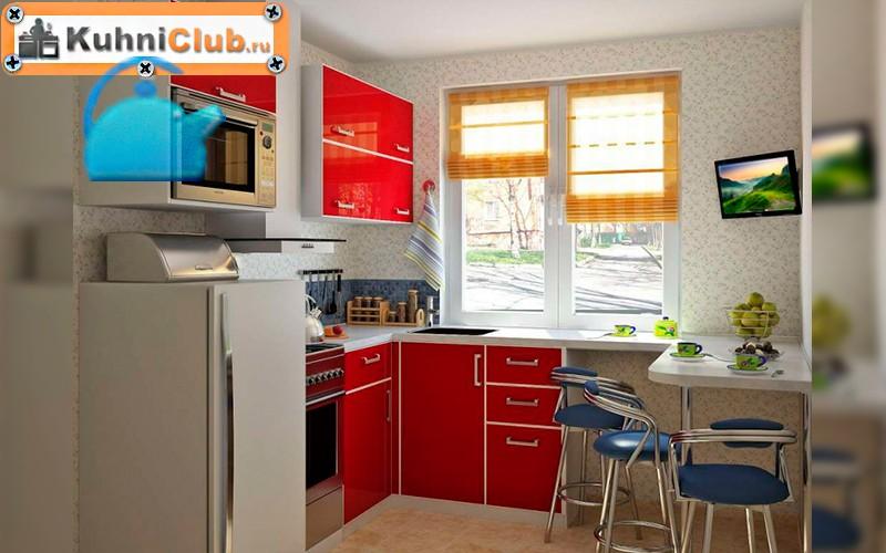 Вариант-размещения-телевизора-в-небольшой-кухне