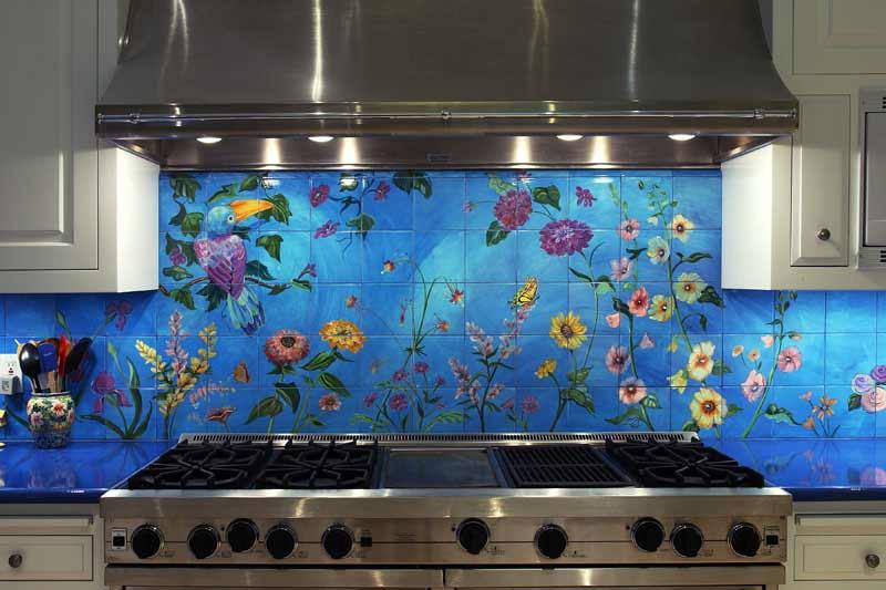 Ручная роспись панно для кухни
