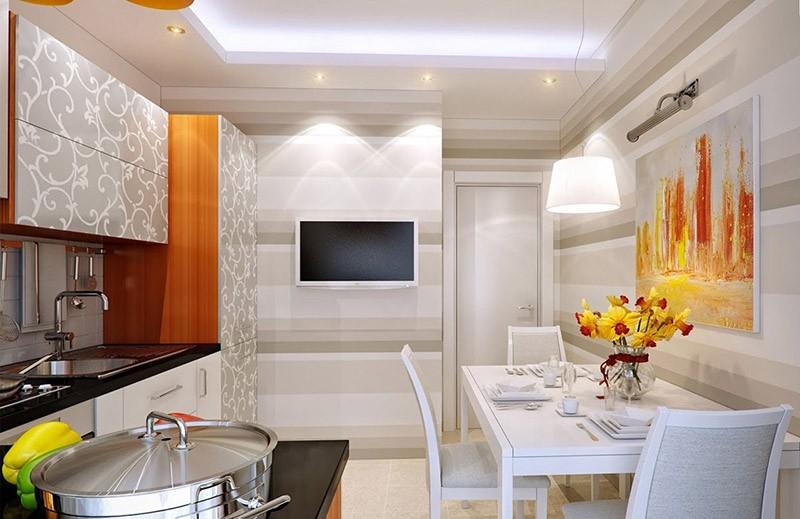 Как расположить телевизор на кухне: фото, примеры, рекомендации.