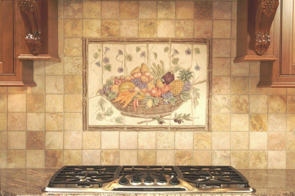 плитка для кухни на фартук панно