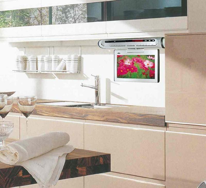 Откидной телевизор на кухне