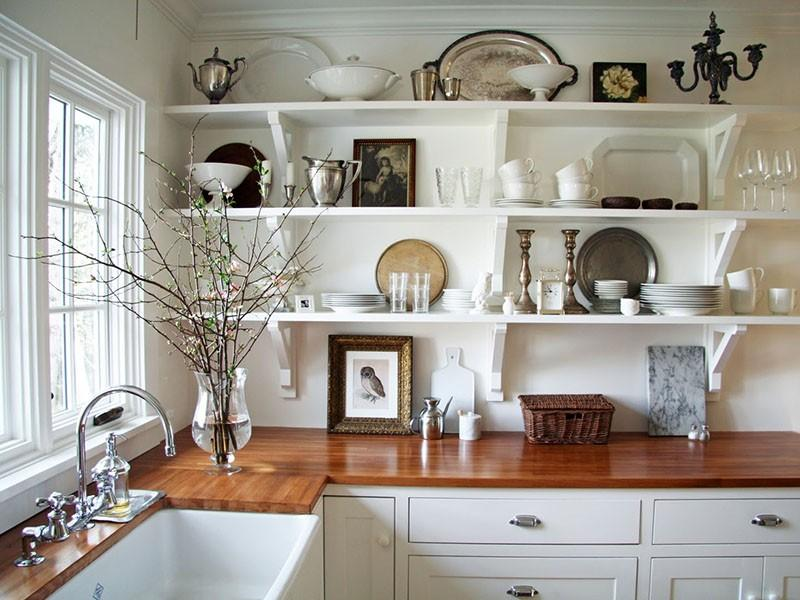 Узкие полки на кухню своими руками фото 97