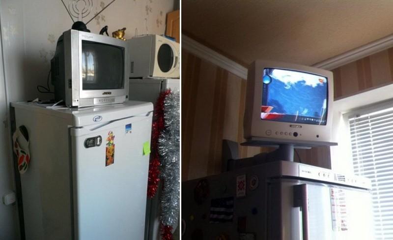 televizor-na-kuhne-na-holodilnike