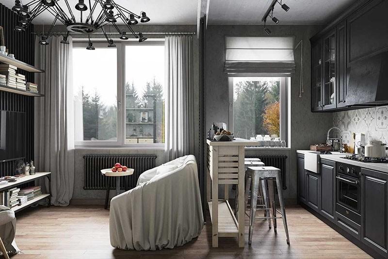 Плюсы и минусы совмещенных гостиной и кухни