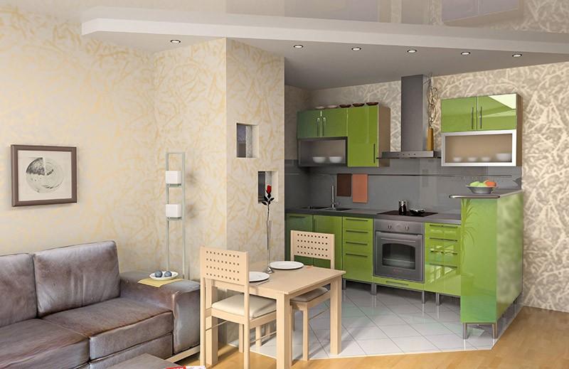 Совмещение кухни и гостиной снос стен