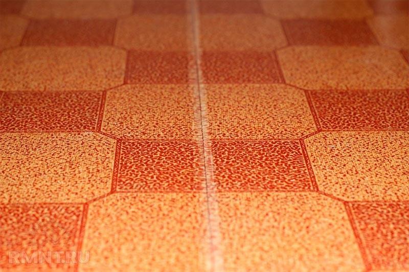 Укладка линолеума швы