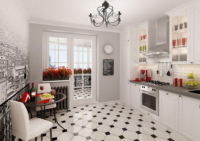 Часы хорошо видно из любой зоны кухни